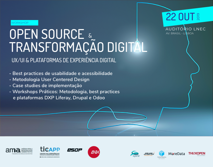 "1.ª sessão do ciclo de workshops ""Open Source & Transformação Digital"""